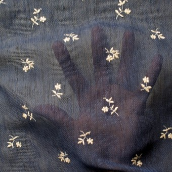 ポリエステル×フラワー(グレイッシュブルー)×メッシュ刺繍(着分) サムネイル4