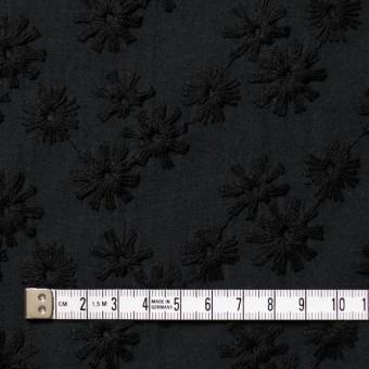 コットン×フラワー(ブラック)×シーチング刺繍(着分) サムネイル4