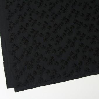 コットン×フラワー(ブラック)×シーチング刺繍(着分) サムネイル2
