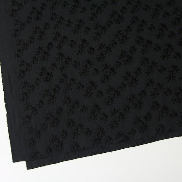 コットン×フラワー(ブラック)×シーチング刺繍(着分) イメージ2