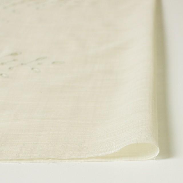 コットン&リネン×幾何学模様(クリーム)×ボイル刺繍(着分) イメージ4