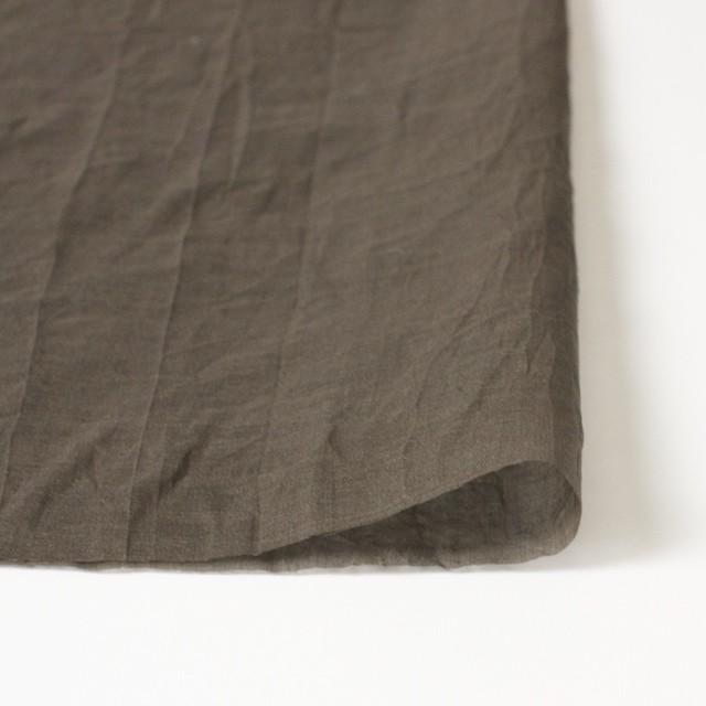 コットン×幾何学模様(カーキブラウン)×ボイル刺繍(着分) イメージ3