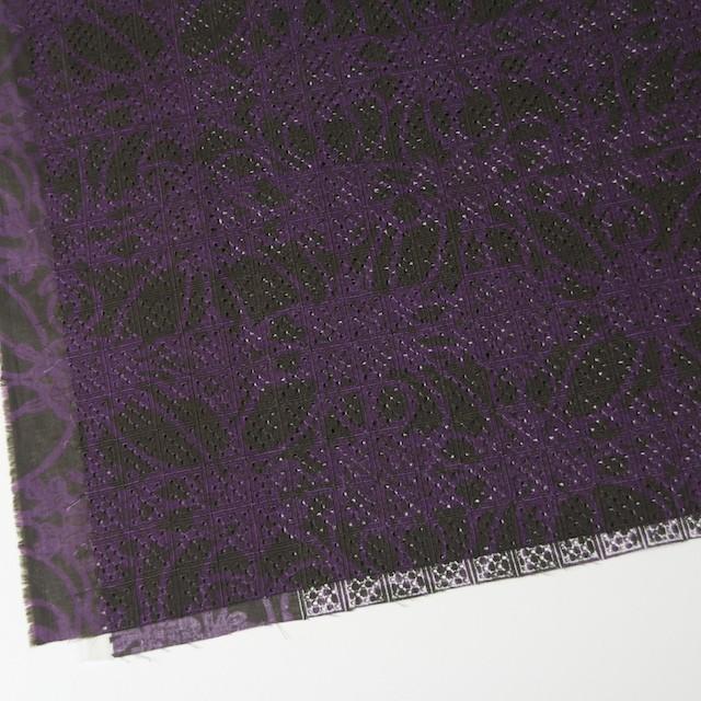 コットン×幾何学模様(パープルミックス)×ボイル刺繍(着分) イメージ2