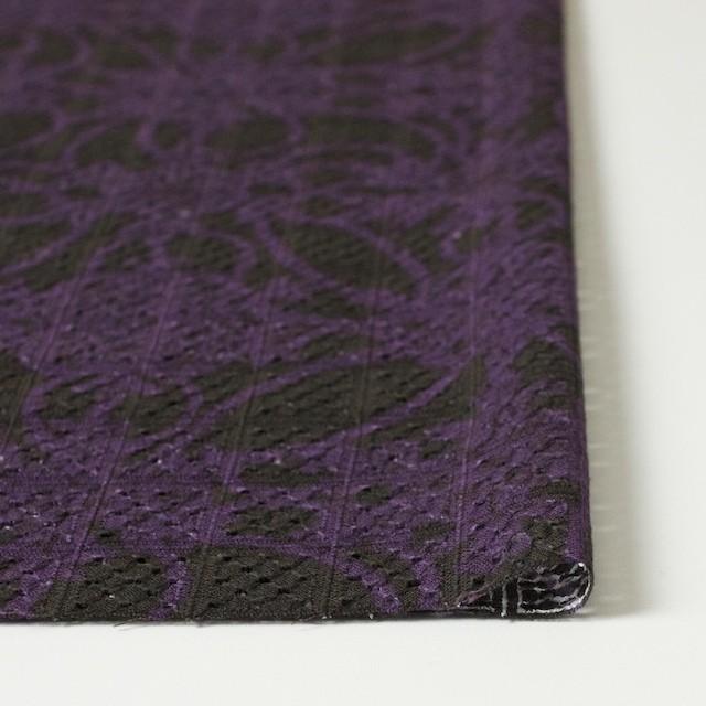 コットン×幾何学模様(パープルミックス)×ボイル刺繍(着分) イメージ3