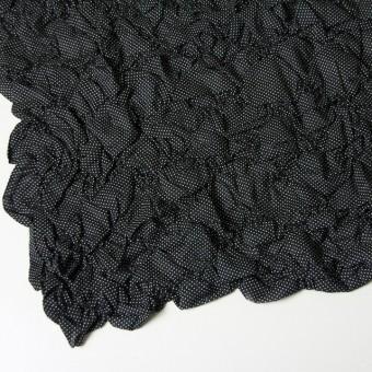 コットン×ドット(ブラック)×ローンシャーリング刺繍(着分) サムネイル2