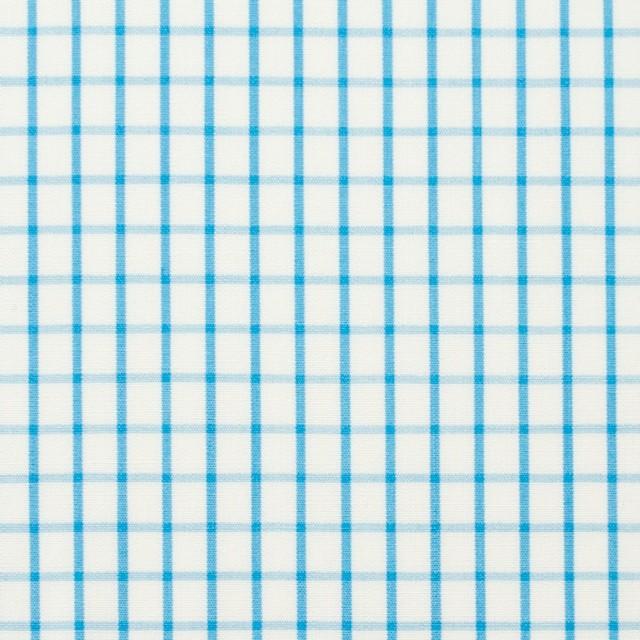 コットン×チェック(パステルブルー)×ブロード_全2色 イメージ1