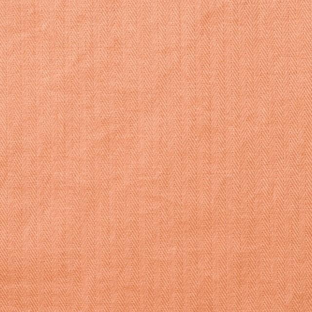 コットン&リネン×無地(キャロットオレンジ)×ヘリンボーン_全2色 イメージ1