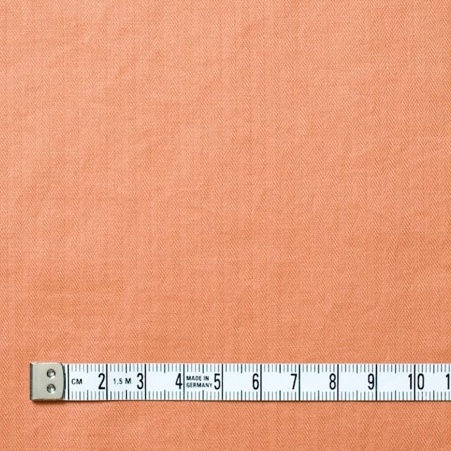 コットン&リネン×無地(キャロットオレンジ)×ヘリンボーン_全2色 イメージ4
