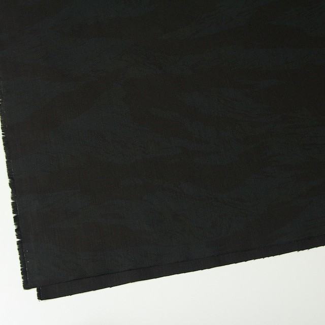 コットン×幾何学模様(ブラック&ダークグリーン)×カツラギ イメージ2
