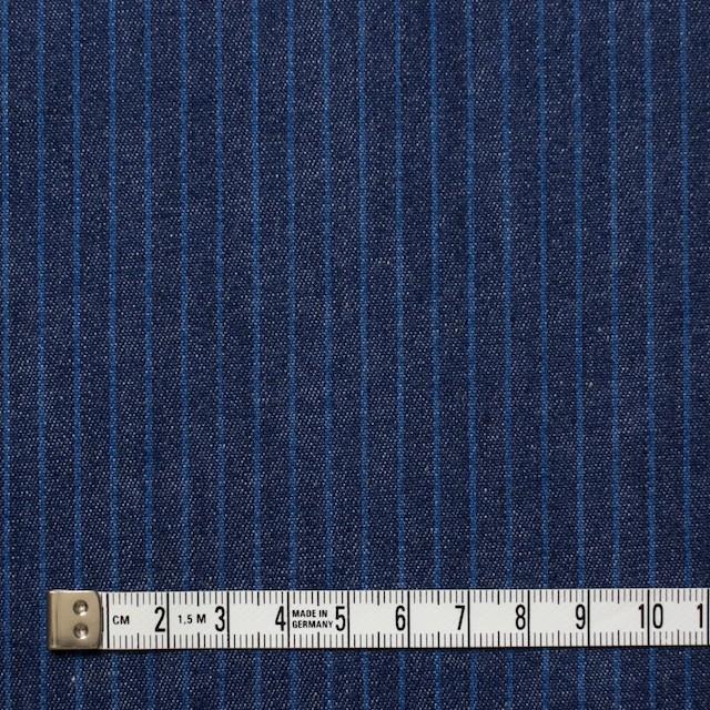 コットン×ストライプ(インディゴ)×デニム イメージ4
