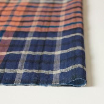 コットン×チェック(オレンジ&ブルー)×ヘリンボーン&ガーゼ_全2色 サムネイル4
