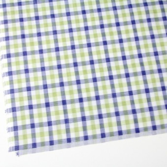 コットン×チェック(グリーン&ブルー)×Wガーゼ サムネイル2