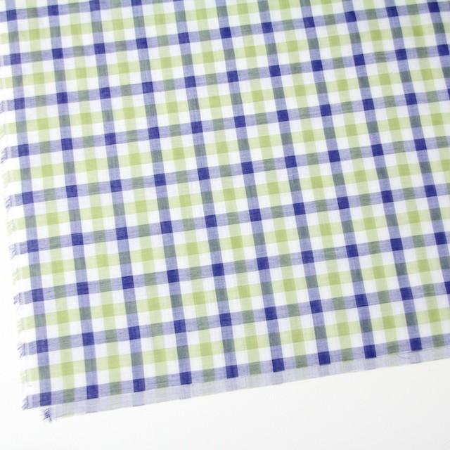 コットン×チェック(グリーン&ブルー)×Wガーゼ イメージ2