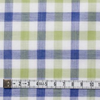 コットン×チェック(グリーン&ブルー)×Wガーゼ サムネイル4
