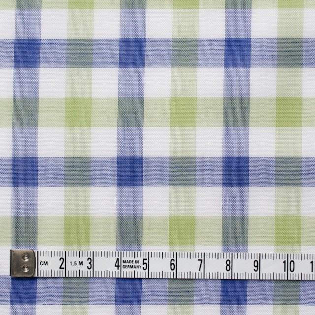 コットン×チェック(グリーン&ブルー)×Wガーゼ イメージ4