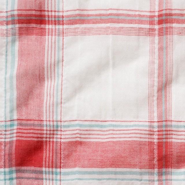 コットン&ポリウレタン×チェック(レッド)×ボイルシャーリング_全3色 イメージ1