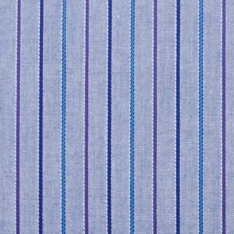 コットン×ストライプ(パープルブルー)×ダンガリージャガード サムネイル1