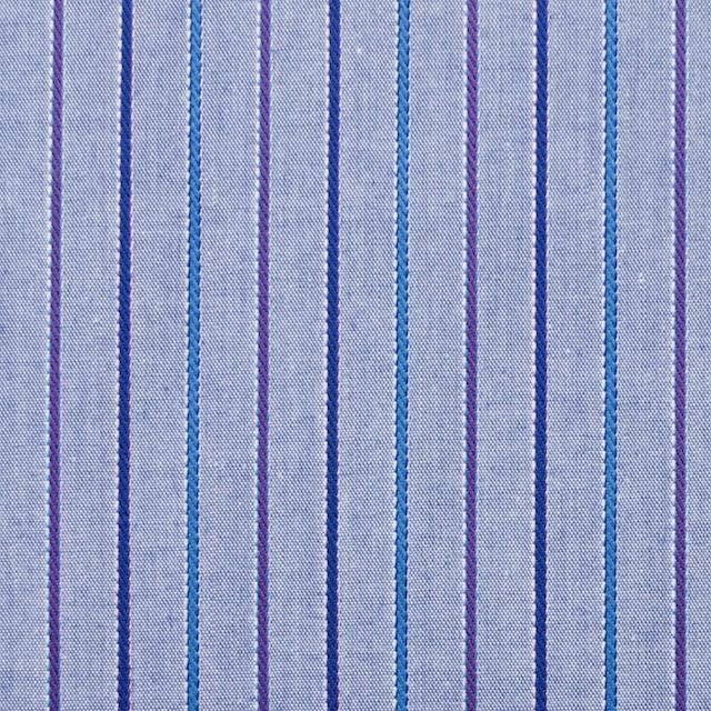 コットン×ストライプ(パープルブルー)×ダンガリージャガード イメージ1