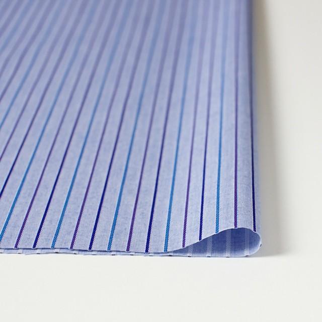 コットン×ストライプ(パープルブルー)×ダンガリージャガード イメージ3