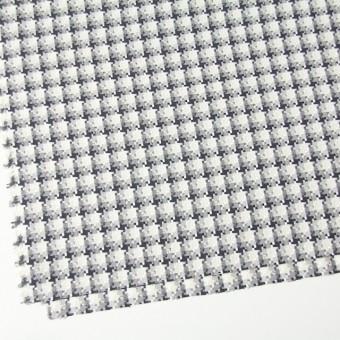 コットン&ポリエステル×幾何学模様(ライトグレー)×千鳥格子_全2色 サムネイル2