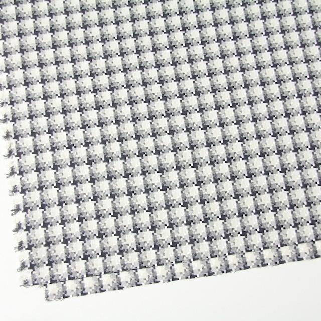 コットン&ポリエステル×幾何学模様(ライトグレー)×千鳥格子_全2色 イメージ2