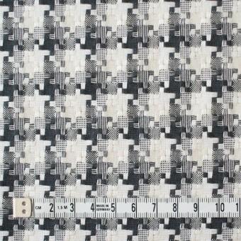 コットン&ポリエステル×幾何学模様(ライトグレー)×千鳥格子_全2色 サムネイル4
