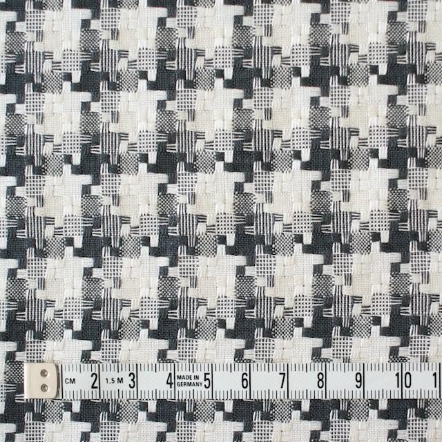 コットン&ポリエステル×幾何学模様(ライトグレー)×千鳥格子_全2色 イメージ4