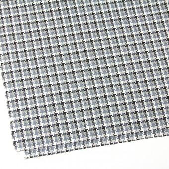 コットン&ポリエステル×幾何学模様(スレートグレー)×千鳥格子_全2色 サムネイル2