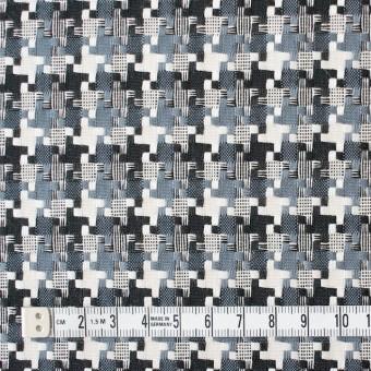 コットン&ポリエステル×幾何学模様(スレートグレー)×千鳥格子_全2色 サムネイル4