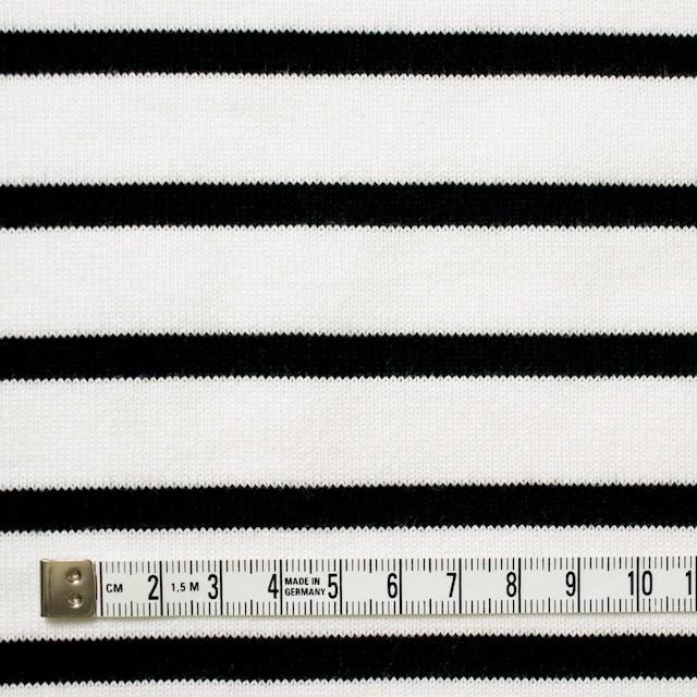 コットン×ボーダー(オフホワイト&ブラック)×天竺ニット イメージ4