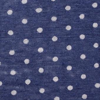 リネン×ドット(ラベンダーブルー)×天竺ニット_全2色 サムネイル1