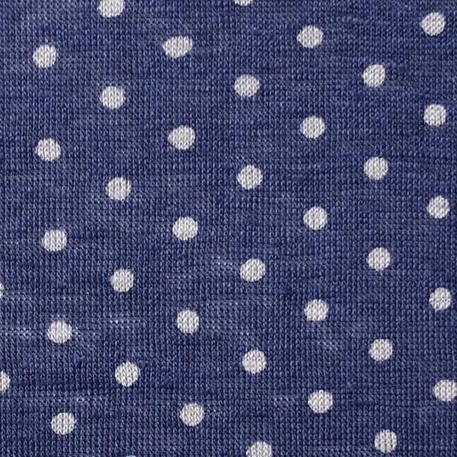 リネン×ドット(ラベンダーブルー)×天竺ニット_全2色 イメージ1