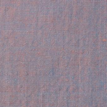 コットン&シルク×無地(オレンジ&ターコイズ)×シャンブレー サムネイル1