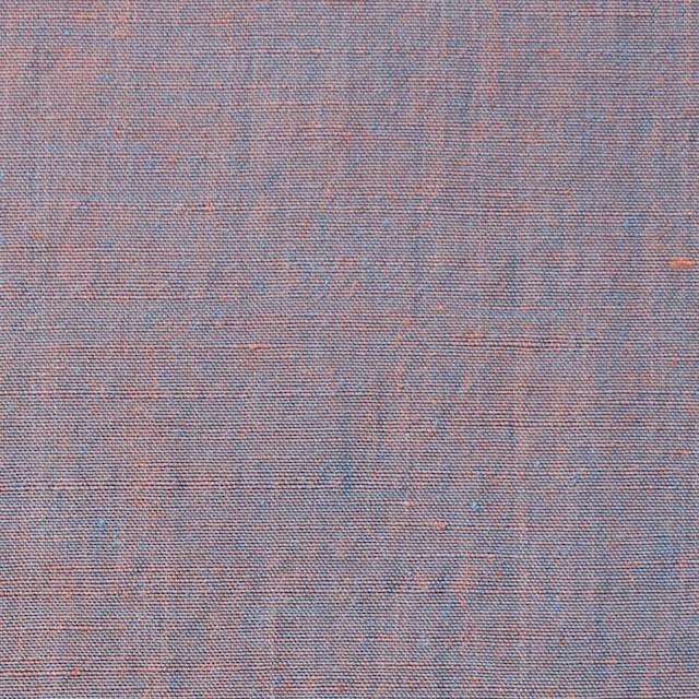 コットン&シルク×無地(オレンジ&ターコイズ)×シャンブレー イメージ1