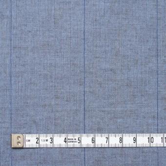 コットン&リネン×ストライプ(ブルーグレー&ブラウン)×薄ダンガリーシャンブレー サムネイル4