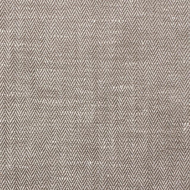 リネン&コットン×無地(ダークブラウン)×ヘリンボーン_全5色 イメージ1