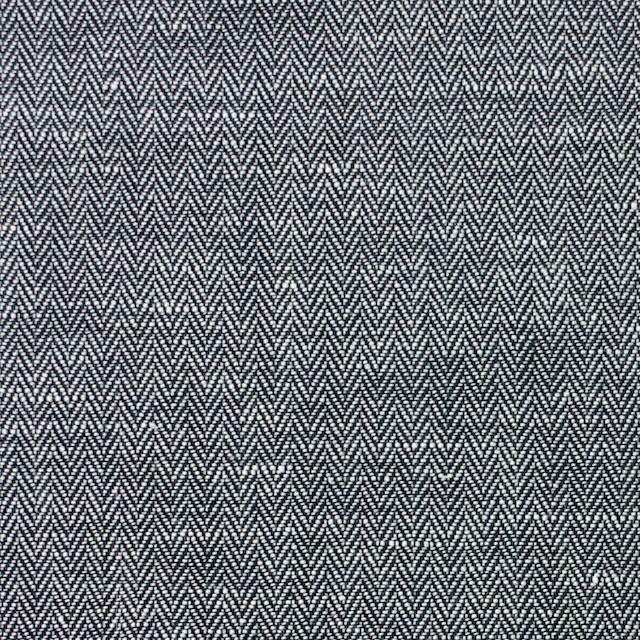 リネン&コットン×無地(ブラック)×ヘリンボーン_全5色 イメージ1