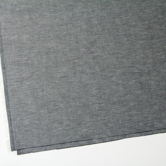 リネン&コットン×無地(ブラック)×ヘリンボーン_全5色 サムネイル2