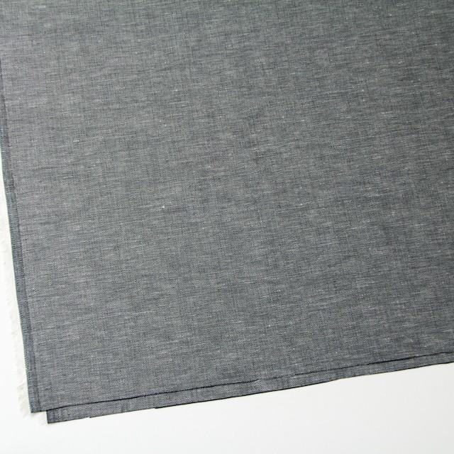 リネン&コットン×無地(ブラック)×ヘリンボーン_全5色 イメージ2