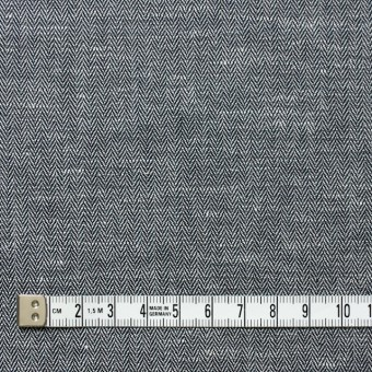 リネン&コットン×無地(ブラック)×ヘリンボーン_全5色 サムネイル4
