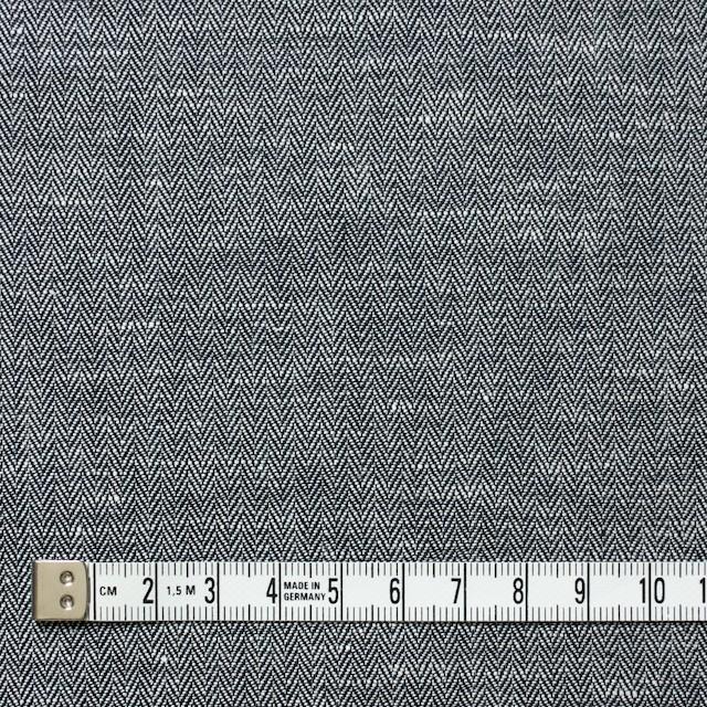 リネン&コットン×無地(ブラック)×ヘリンボーン_全5色 イメージ4