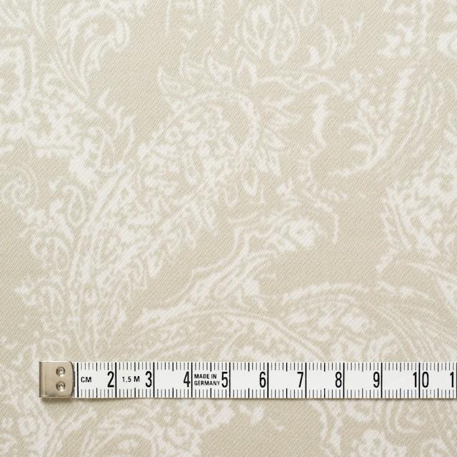コットン&ポリウレタン×ペイズリー(ベージュ)×サテンストレッチ_全2色 イメージ4
