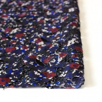 キュプラ×フラワー(ネイビー)×ローン刺繍 サムネイル3