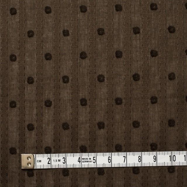 コットン×ドット(ブラウン)×ボイルジャガード_全3色 イメージ4