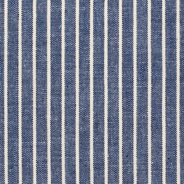 コットン×ストライプ(ブルー)×ダンガリー イメージ1
