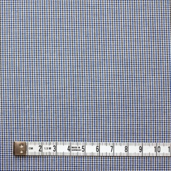 コットン×チェック(サックス&オリーブ)×千鳥格子_全2色 サムネイル4