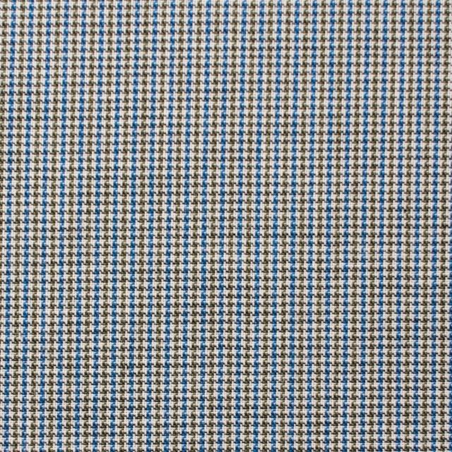 コットン×チェック(ネイビー&オリーブ)×千鳥格子_全2色 イメージ1