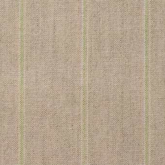 コットン&リネン×ストライプ(ベージュ&パステルグリーン)×薄キャンバス サムネイル1