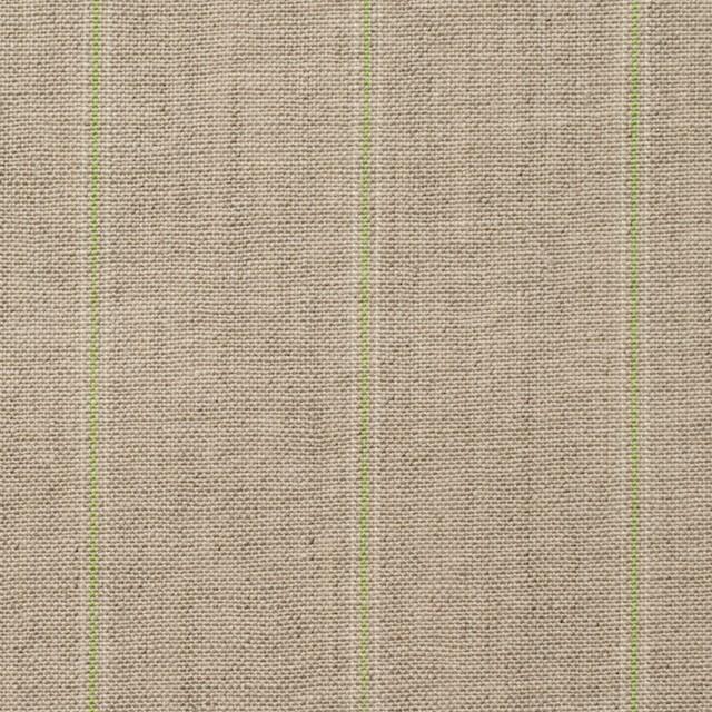 コットン&リネン×ストライプ(ベージュ&パステルグリーン)×薄キャンバス イメージ1