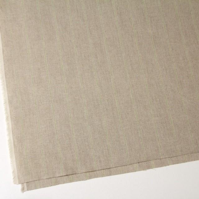 コットン&リネン×ストライプ(ベージュ&パステルグリーン)×薄キャンバス イメージ2